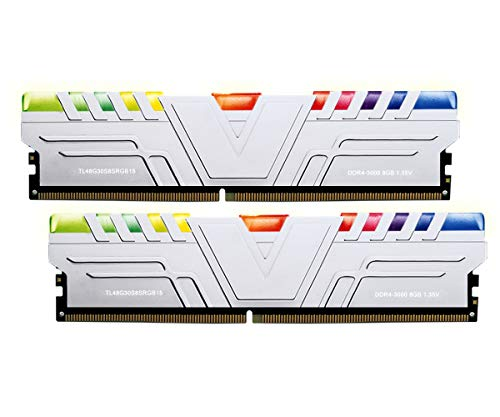 V-Color Skywalker Prism RGB 16GB (2 x 8GB) Hynix IC 288-Pin DDR4 DRAM 3000MHz (PC4-24000) CL15 1.35V Desktop Memory Model Silver (TL48G30S8KSRGB15)