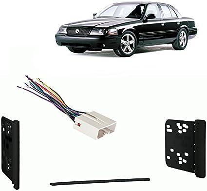 Fits Mercury Marauder 03-04 Double DIN Stereo Harness Radio Install Dash Kit