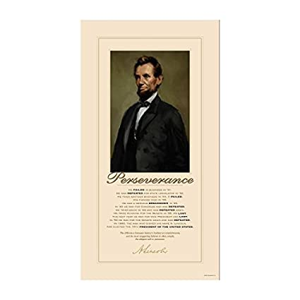 Amazoncom Successories Unframed Lincoln Perseverance