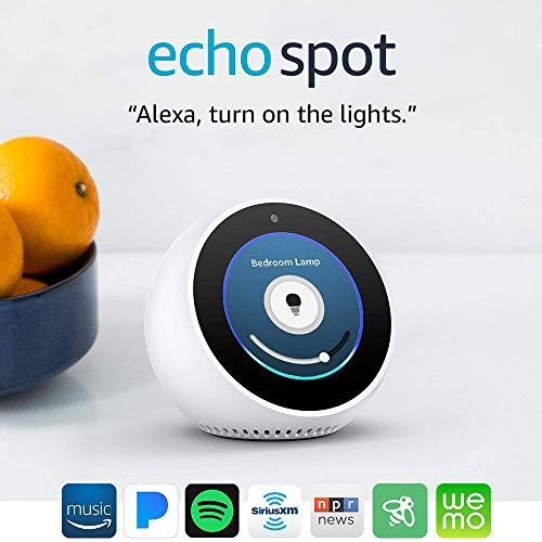 Echo Spot - Pantalla inteligente con Alexa - Blanco