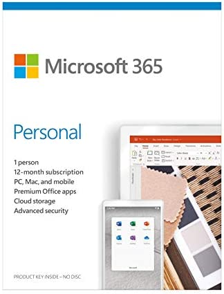 Microsoft 365 Personal – for PC, Mac, iOS and Android, English Subscription, Middle East Version, 1 Year License for 1 User – [QQ2-01011]
