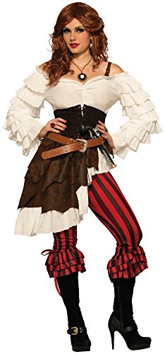 Forum Novelties Women's Renegade Ruby Pirate Costume, Multi, X-Small/Small (Costume Pantaloons)