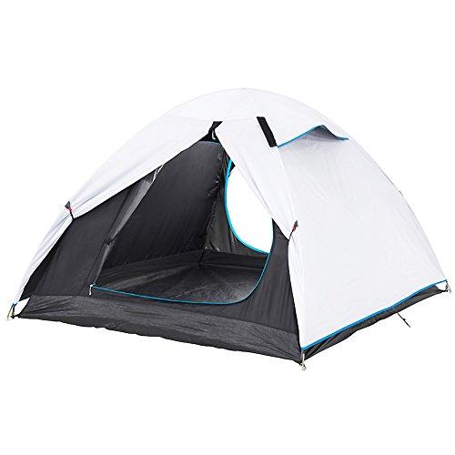 慣性アッティカスボットドームテント,3 人 太陽保護キャンプ テント 耐放射線換気テント ポータブル 二重層 アウトドア テント