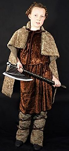 [Medieval-Re-enactment-Larp-Viking-Cosplay-SCA- VIKING GIRL 02 Costume - All Ages (AGE 11-13)] (Larp Costumes Uk)