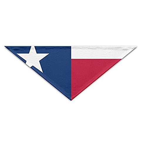 LINXINHX Flag Of Texas State Dog Bandana Triangle Bibs Scarfs Accessories For Pet Cats And Puppies (The Texas Triangle)