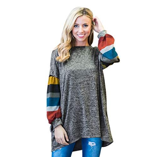 Lookatool LLC Women's O Neck Raglan Long Sleeve Casual Loose Tunic Tops Shirts