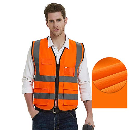 Top 10 high visibility vest with pockets orange