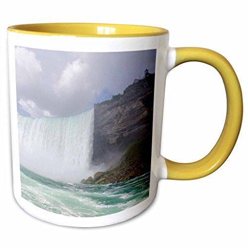 3dRose Danita Delimont - Niagara Falls - Waterfalls, Niagara Falls, Ontario, Canada - CN08 CMI0065 - Cindy Miller Hopkins - 11oz Two-Tone Yellow Mug - Ontario Outlet Falls Niagara