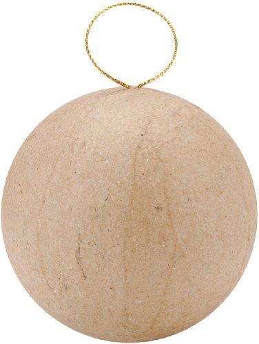 Darice 2-1/2 inch Paper Mache - Ball Papier Ornament Mache