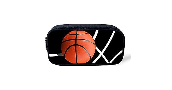 Amazon.com: Estuche para lápices de baloncesto con impresión ...