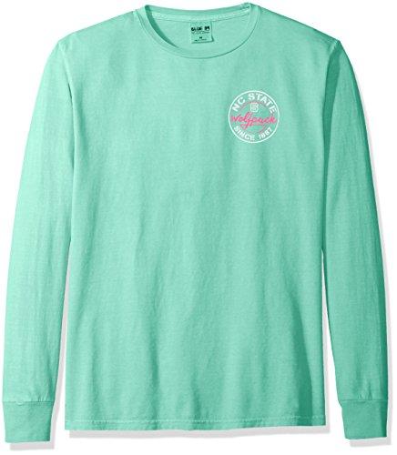 Blue 84 NCAA North Carolina State Wolfpack Adult Unisex NCAA Dyed Ringspun Fashion Color Longsleeve Tee,Medium,Seafoam