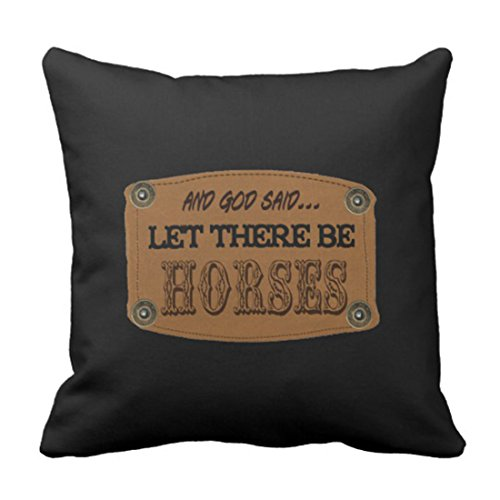 Emvency Throw Pillow Cover God 2 Sided Country Western Horses Equestrian Decorative Pillow Case Home Decor Square 16 x 16 Inch Pillowcase
