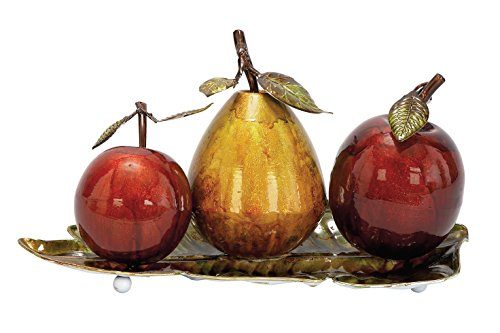 Deco 79 Metal Fruit Decor, 9 by 19-Inch (Sculpture Candle)