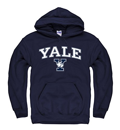 (Campus Colors Yale Bulldogs Adult Arch & Logo Gameday Hooded Sweatshirt - Navy)
