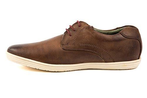 Base London - Zapatillas de Piel Lisa para hombre 42 marrón