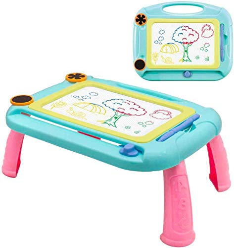 Kids Magnetic Drawing Board, Children Graffiti Color Toy Erase Painting Girl Board with Holder Educational Toy Sketch Magnadoodles Magna Doodle Pen writing Pad Etchasketch Party for 2 Year Old