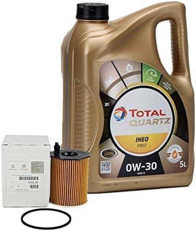 Pack Duo Öl Motortotal Quartz Ineo First 0w 30 5 Liter Öl Filter Psa Original 1109 Ay Motoren 1 4 1 6hdi Auto