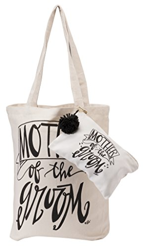 Deluxe Mother of The Groom Bridal Party Tote & Cosmetic Bag ()