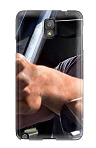 AnFcmfy4563wtums Tpu Case Skin Protector For Galaxy Note 3 Dwayne Johnson With A Gun With Nice Appearance