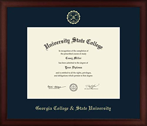 Georgia College & State University - Officially Licensed - Gold Embossed Diploma Frame - Diploma Size 11