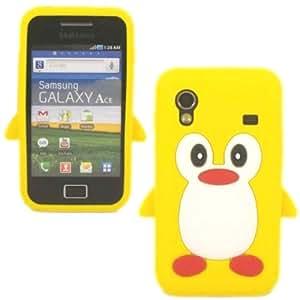 Penguin Silicona Cubrir Caso Piel Para Samsung Galaxy Ace S5830 / Yellow