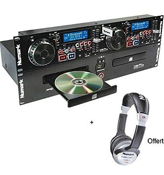 Pack Numark CDN 77 USB - Tocadiscos doble CD CDN incluye casco ...