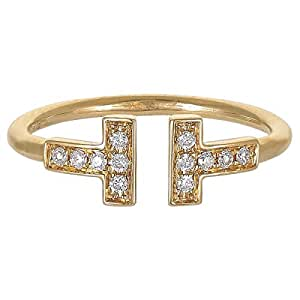 Eva Women's 18K White Gold 0.11ct Diamond Ring, Size 6.25 US - B14374
