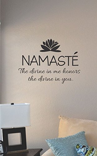 Attirant Namaste The Divine In Me Honors The Divine In You Vinyl Wall Decal Sticker