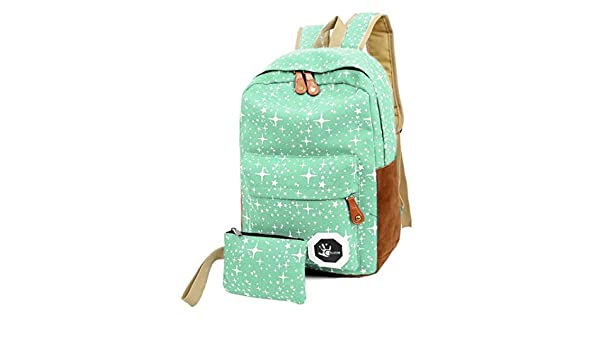 Amazon.com: Teenagers Canvas Backpack School Bags Mochila Escolar, Outsta Schoolbag Backpack Classic Basic Casual Daypack Multicolor travel (Green): Beauty