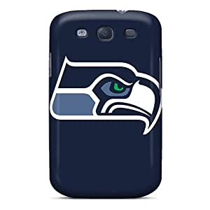 Galaxy S3 Seattle Seahawks Print High Quality Tpu Gel Frame Case Cover