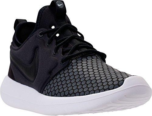 (Nike Men's Roshe Two (SE) Sneakers Black/Black-White-Dark Grey (12))
