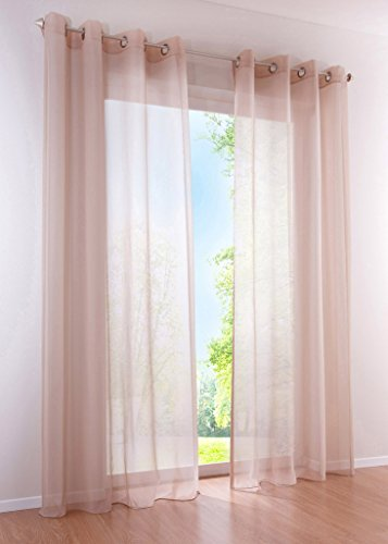 LivebyCare 1pcs Candy Color Sheer Window Curtain Panel Grommet Top Voil Window Treatment Drapery Drape Room Divider Partition Curtains Decorative for Pub Rest Room Review