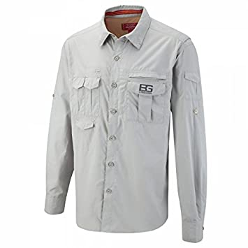 Craghoppers Bear Grylls Adventure Men's Functional Shirt Long Sleeves grey  Metal Size:XL