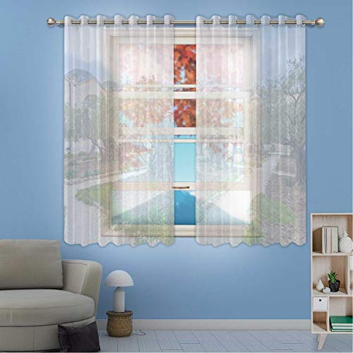 MOOCOM Gethsemane Garden at Mount of Olives Window Treatments Curtains,Jerusalem for Kids Room,W84in x H45in from MOOCOM