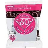 Filtro De Papel Para Coador De Café V60, Tamanho 01, Pacote Com 100 Hario 0 Branco 01