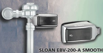 Sloan Valve EBV-200-A Side-Mount-Operator-Over-The-Handle Retrofit Kit for Water Closets and Urinals - Low Side Conversion Valve
