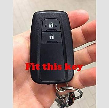 ROSSO Cover Guscio Chiave Silicone 2 Tasti Portachiavi Custodia Toyota Yaris C HR C-HR Corolla Auris Morbido Protezione Telecomando Auto Keyless 7 COLORI di qualit/à