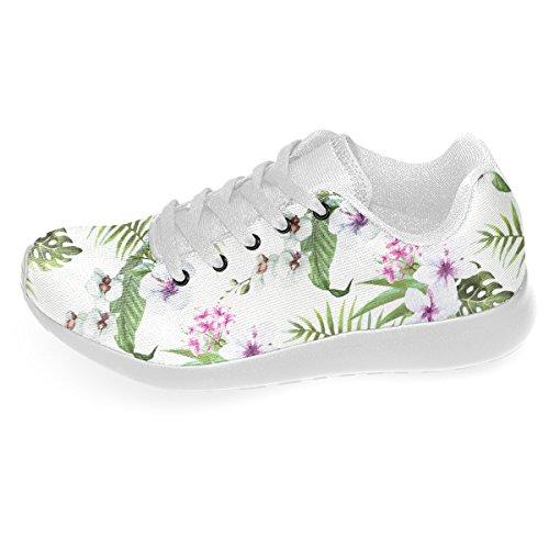 Artsadd Tropicale Ibisco E Palme Lascia Nuove Scarpe Da Corsa Personalizzate Per Gli Uomini