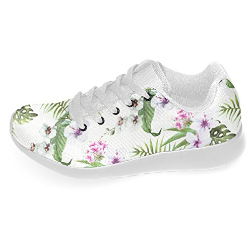 Artsadd Tropical Hibiscus And Palm Leaves Zapatos A Estrenar Personalizados Para Hombres