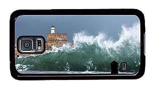 Hipster luxury Samsung S5 Case huge shore waves PC Black for Samsung S5