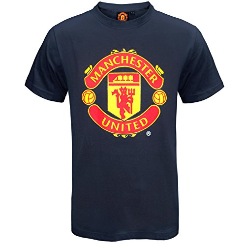 Manchester United Football Club Official Soccer Gift Mens T-Shirt Navy XL