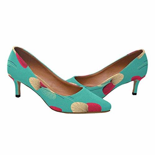 InterestPrint Womens Low Kitten Heel Pointed Toe Dress Pump Shoes Floral Pattern Multi 1 ixbhqLxaHq