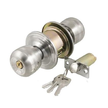 eDealMax stainelss acero de puerta del botón Inicio cerradura con llave Cerradura Entrada