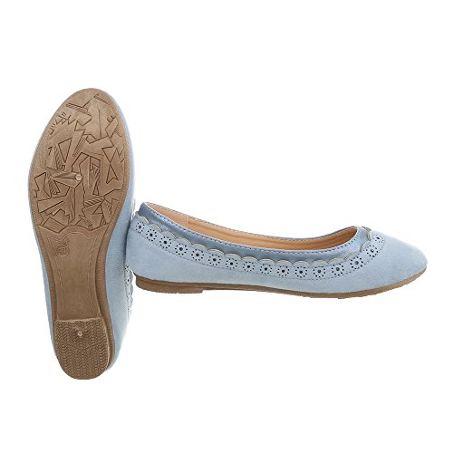 Women's 78 N at high Design Trainers Sneakers Flat Blue Light Ital rxvUrFq