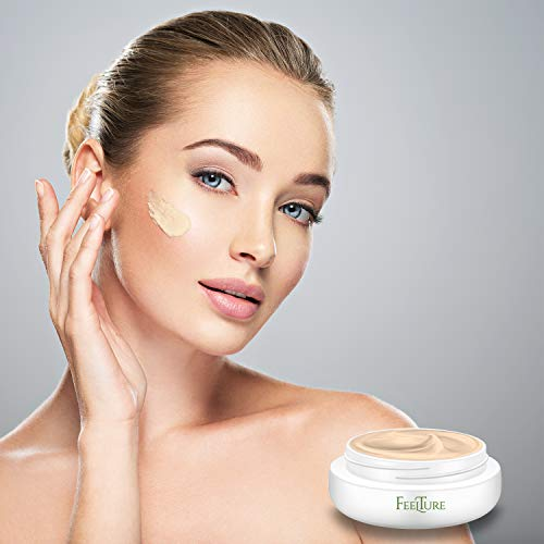 412Qh7GTOSL - FeelTure Peptide Moisturizer Anti Aging Face Cream - Face & Neck Wrinkle Lotion - Reduce Appearance of Wrinkles, Dark Circles, Fine Lines & Acne - 1.76 oz