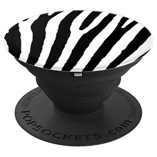 Animal Patterns Print (Zebra Print Pattern White Black Design Cool Animal Gift - PopSockets Grip and Stand for Phones and Tablets)