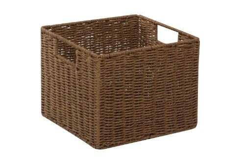 Honey-Can-Do STO-03567 Parchment Cord Crate with Handles, Brown, 12.2 x 13 x 10 inches by Honey-Can-Do (Image #1)