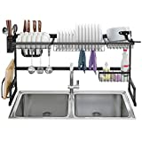 LANGRIA Dish Drying Rack Over Sink Stainless Steel...
