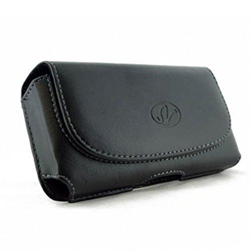 Phone Neoprene Case Swivel Clip - Black Horizontal Sideways Leather Phone Case Cover Holster with Belt Clip for Verizon Samsung Galaxy J3