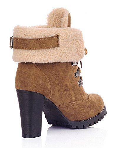 Yellow Snow Boots Platform warm boots women Pumps Boots up High Women Lace Ankle keep Heels p6UqnwYZ